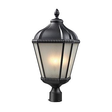 Z-Lite Waverly (513PHM-BK) - Lampadaire pour l'extérieur, 11 po x 25,25 po, noir