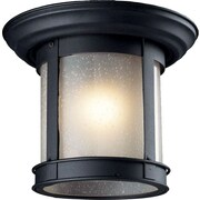 "Z-Lite (514F-BK) Outdoor Flush Mount Lights, 9.75"" x 7.75"""