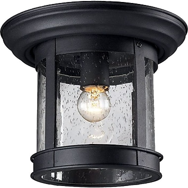 Z-Lite (515F-BK) Outdoor Flush Mount Light, 9.75