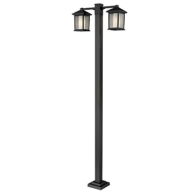 Z-Lite Mesa 524-2-536P-ORB, 2 Head Outdoor Post, 30