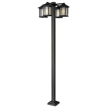 Z-Lite Mesa 524-4-536P-ORB, 4 Head Outdoor Post, 30