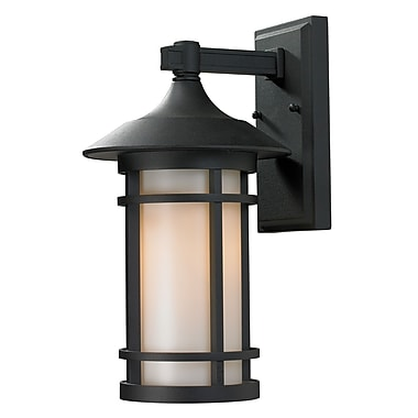 Z-Lite Woodland (527M-BK) Outdoor Wall Light, 9.13