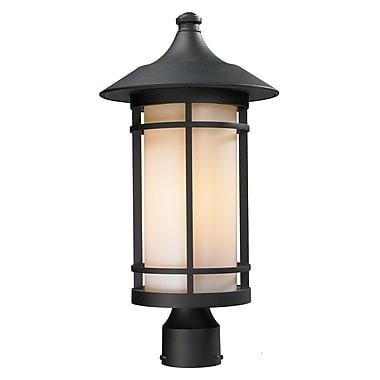 Z-Lite Woodland (527PHB-BK) Outdoor Post Light, 10