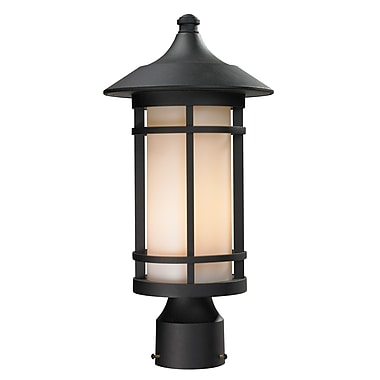 Z-Lite Woodland (527PHM-BK) Outdoor Post Light, 8.13