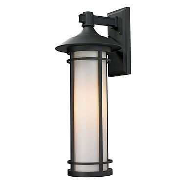 Z-Lite Woodland (529B-BK) Outdoor Wall Light, 11.25
