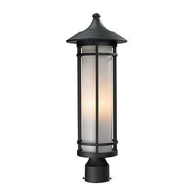 Z-Lite Woodland (529PHM-BK) Outdoor Post Light, 8.13