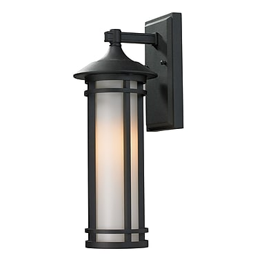 Z-Lite Woodland (529S-BK) Outdoor Wall Light, 7