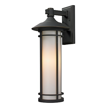 Z-Lite Woodland (530B-ORB) Outdoor Wall Light, 11.25