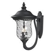"Z-Lite Armstrong (533B-BK) Outdoor Wall Lights, 16"" x 12.38"" x 24.25"""