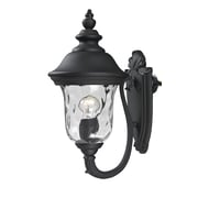 "Z-Lite Armstrong (533S-BK) Outdoor Wall Lights, 10.38"" x 8"" x 15.75"""