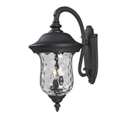 "Z-Lite Armstrong (534B-BK) Outdoor Wall Lights, 16"" x 12.38"" x 24.25"""
