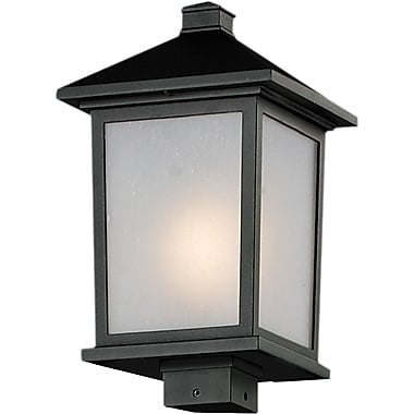 Z-Lite Holbrook (537PHB-BK) Outdoor Post Lights, 9.5