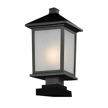 Z-Lite Holbrook (537PHB-SQPM-BK) Outdoor Post Light, 9.5