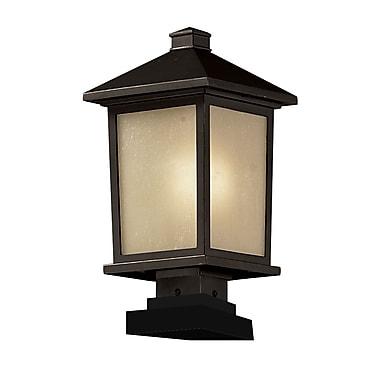 Z-Lite – Lampadaire pour l'extérieur Holbrook (537PHB-SQPM-ORB), 9,5 x 19,5 po, bronze antique