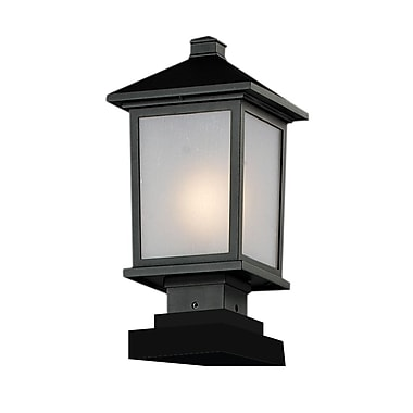 Z-Lite Holbrook (537PHM-SQPM-BK) Outdoor Post Lights, 8.13