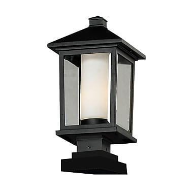 Z-Lite Mesa 538PHB-SQPM-BK, Outdoor Post Light, 9.5