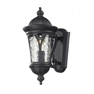 Z-Lite Doma (543S-BK) 1 Light Outdoor Light, 8.75