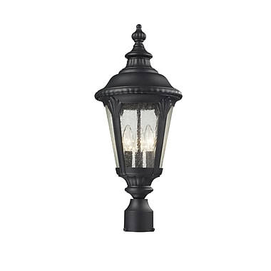 Z-Lite Medow (545PHM-BK) Outdoor Post Light, 9.75