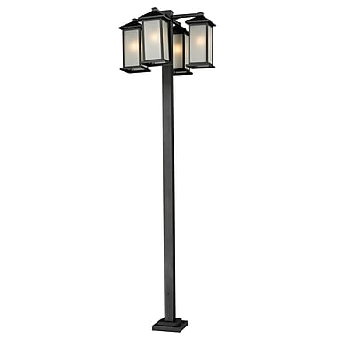 Z-Lite Vienna (547-4-536P-BK) 4 Head Outdoor Post, 30