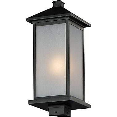 Z-Lite – Lampadaire pour l'extérieur Vienna (547PHB-BK), 9,5 x 22 po, noir
