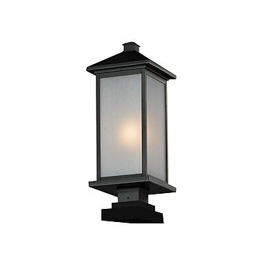 Z-Lite – Luminaire de pilier pour l'extérieur Vienna (547PHB-SQPM-BK), 9,5 x 24,5 po, noir