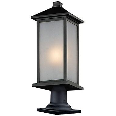 Z-Lite – Luminaire de pilier pour l'extérieur Vienna (547PHMR-533PM-BK), 8 x 23,25 po, noir