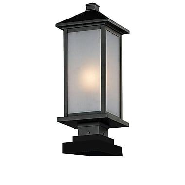 Z-Lite – Luminaire de pilier pour l'extérieur Vienna (547PHM-SQPM-BK), 8 x 22,5 po, noir
