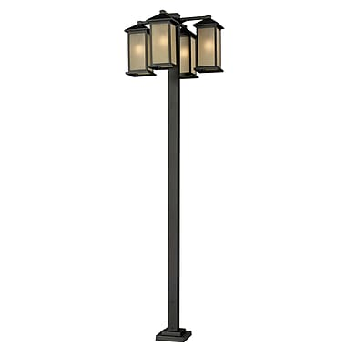 Z-Lite Vienna (548-4-536P-ORB) 4 Head Outdoor Post, 30
