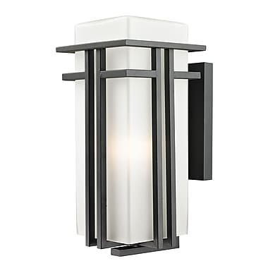Z-Lite Abbey (549B-BK) Outdoor Wall Light, 9.5