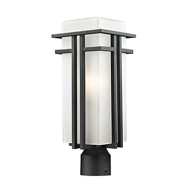 Z-Lite Abbey (549PHB-BK-R) Outdoor Post Light, 7.75