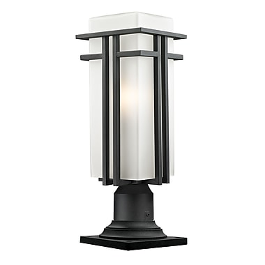 Z-Lite Abbey (549PHBR-533PM-BK) Outdoor Pier Mount Light, 7.75