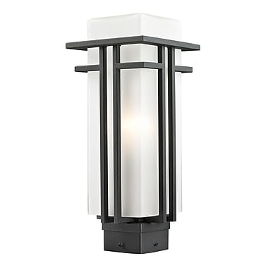 Z-Lite Abbey (549PHM-BK) Outdoor Post Light, 6.63