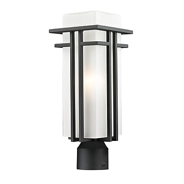 Z-Lite Abbey (549PHM-BK-R) Outdoor Post Light, 6.63