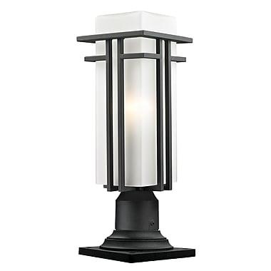 Z-Lite – Luminaire de pilier extérieur Abbey (549PHMR-533PM-BK), 6,63 x 19 po, noir