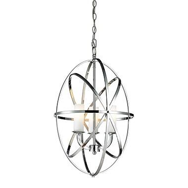 Z-Lite – Luminaire suspendu Aranya (6027-3S-CH) à 3 lampes, 15,16 x 15,16 x 23,23 po, chrome