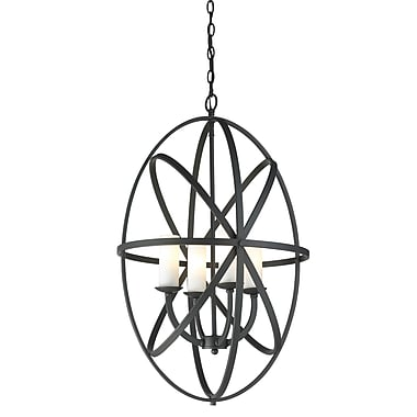 Z-Lite – Luminaire suspendu Aranya (6027-4L-BRZ) à 4 lampes, 19,69 x 19,69 x 28,74 po, bronze
