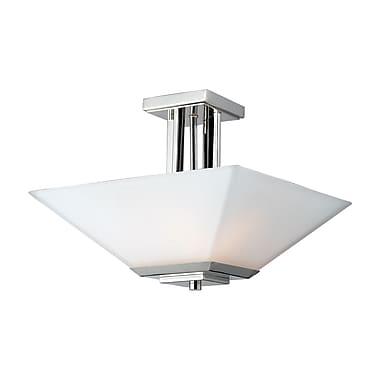 Z-Lite – Semi-plafonnier Affinia (602SF) à 3 lampes, 15 x 11,75 po, chrome