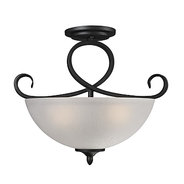Z-Lite Arshe (603SF) 3 Light Semi-Flush Mount, 16