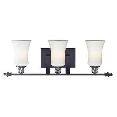 Z-Lite – Luminaire pour salle de bain Harmony (604-3V) à 3 lumières, 5,75 x 24,63 x 8,13 po, noir mat