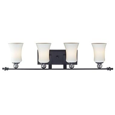 Z-Lite – Luminaire pour salle de bain Harmony (604-4V) à 4 lumières, 5,75 x 32,88 x 8,13 po, noir mat
