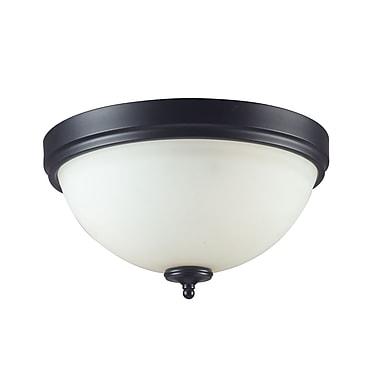 Z-Lite Harmony (604F2) 2 Light Flush Mount Light, 13.25