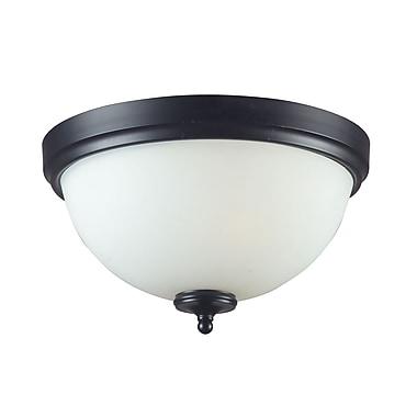 Z-Lite – Plafonnier Harmony (604F3) à 3 lampes, 15 x 7,88 po, noir mat