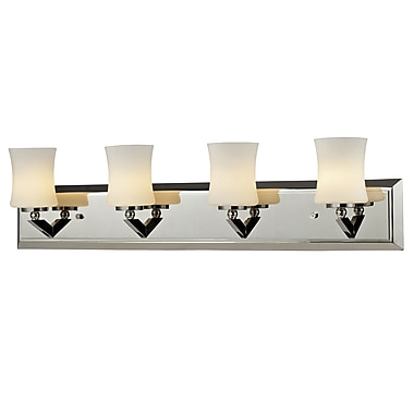 Z-Lite Elite (608-4V-CH) 4 Light Vanity, 4.5