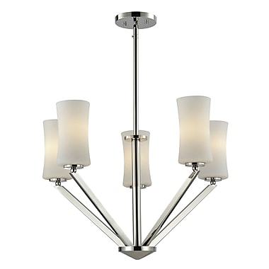 Z-Lite Elite (608-5-CH) 5 Light Chandelier, 24