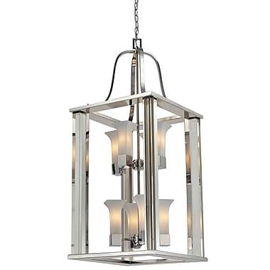 Z-Lite – Luminaire de vestibule Lotus (611-42-CH) à 8 lampes, 18 x 18 x 42 po, nickel brossé