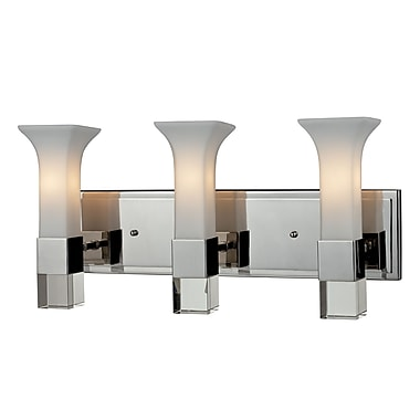Z-Lite Lotus (611-3V-CH) 3 Light Vanity, 5.25