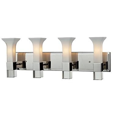Z-Lite – Luminaire pour salle de bain Lotus (611-4V-CH) à 4 lumières, 5,25 x 28 x 9,38 po, chrome