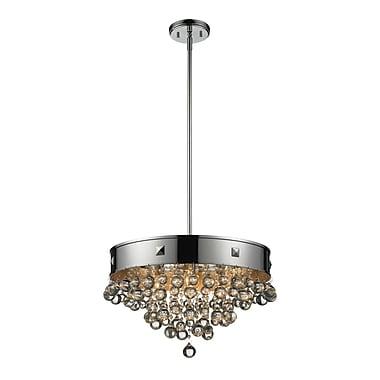 Z-Lite – Luminaire suspendu Iluva (612-19CH) à 4 lampes, 18,38 x 59,5 po, chrome