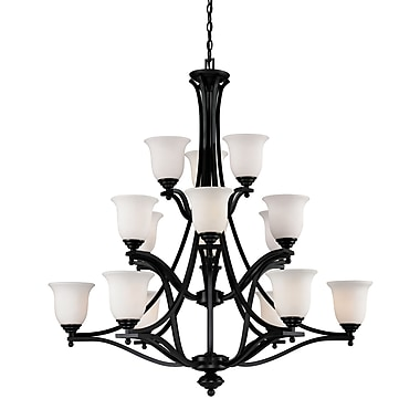Z-Lite Lagoon (702-15-BRZ) 15 Light Chandelier, 42