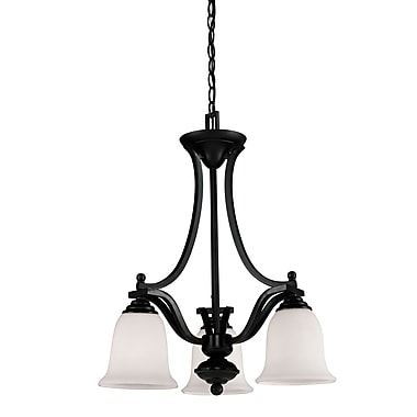 Z-Lite Lagoon (702-3-BRZ) 3 Light Chandelier, 20